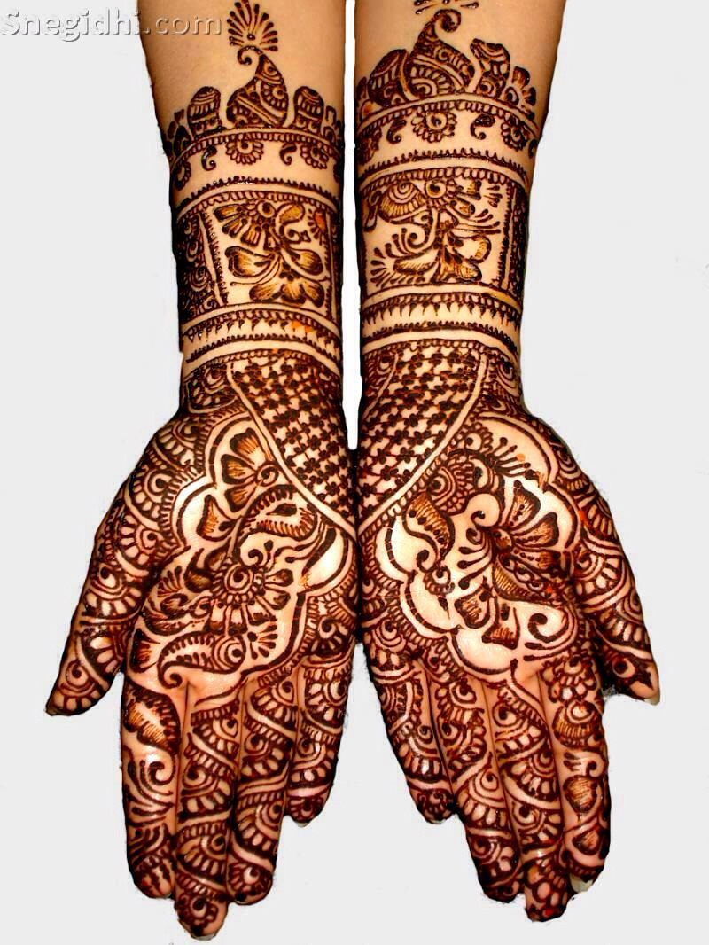 Throughout history mehndi is used commonly by the females