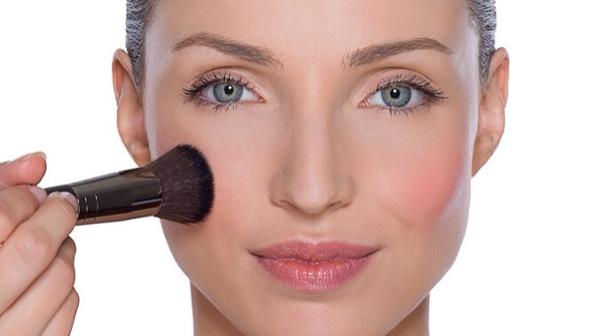 Next blush,to add color and youth into your cheeks:-)