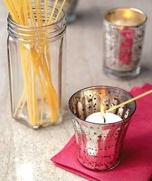 Use dry spaghetti noodles to light those hard to reach candles