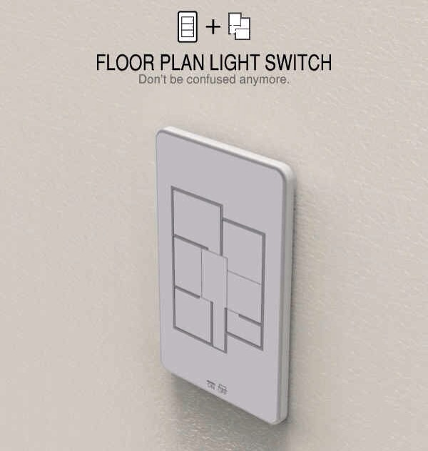 10. The ultimate floor-plan light switch for lazy people with big houses.