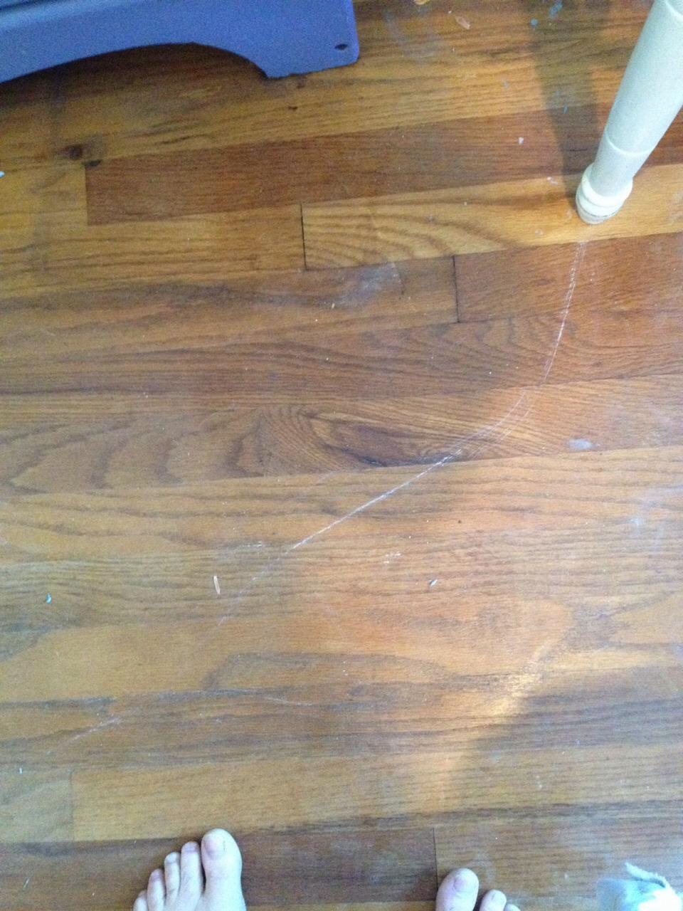 how to fix slippery wood floors