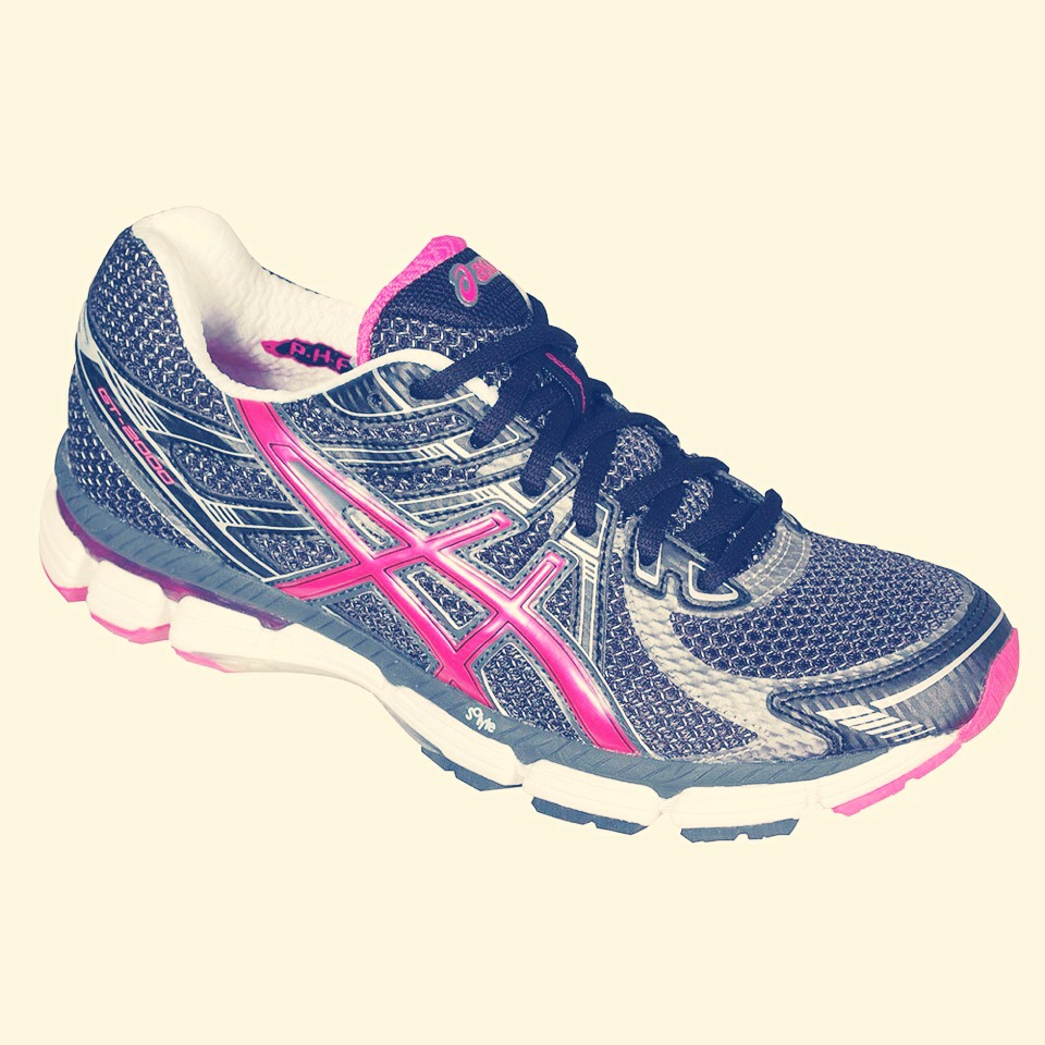 Find a pair of shoes that have enough room to wiggle your toes, no more though. If you wear uncomfortable trainers it isn't going to be nice!