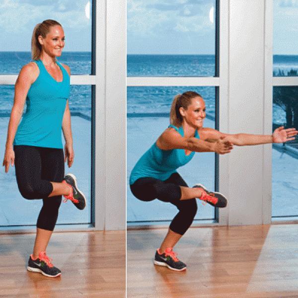 Problem: Thigh Jiggle  Solution: Figure-Four Squats