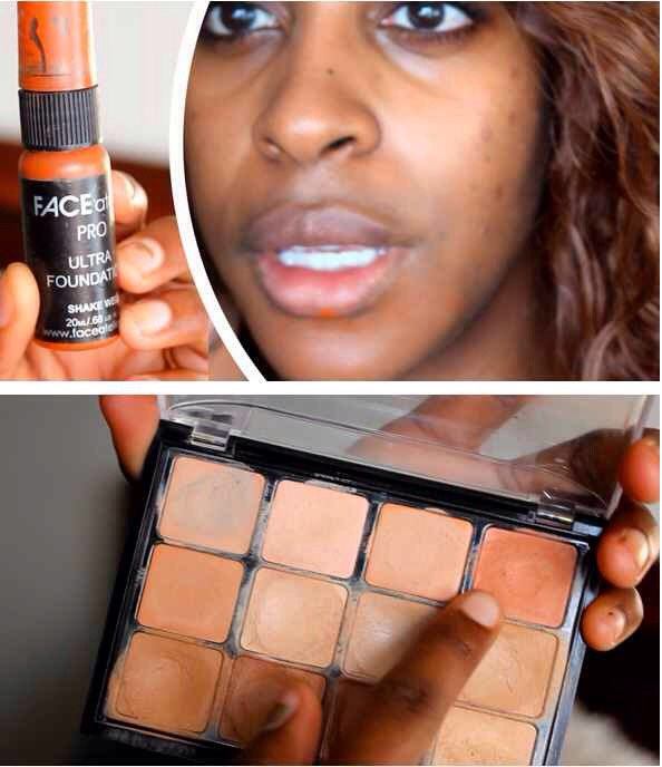 3 | That's whythis blogger uses a darkorange on her dark spots +a lighter orange around her mouth. Simple color theory, people!  CHECK OUT HER FULL ROUTINE HERE |http://jackieaina.com/2014/01/04/flawless-makeup/