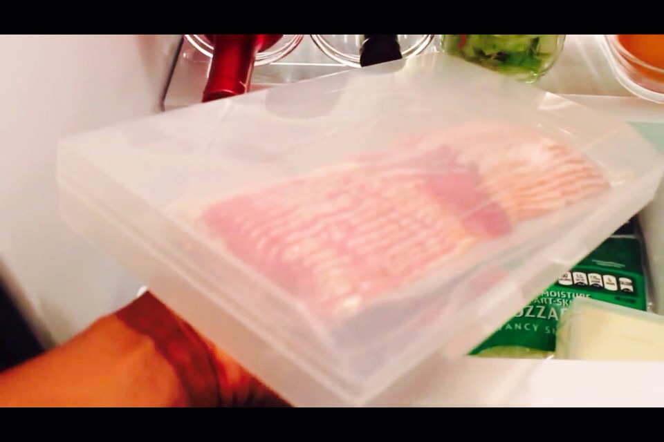 Store items like bacon, sausage links, cheese etc. in separate plastic lock tight plastic containers