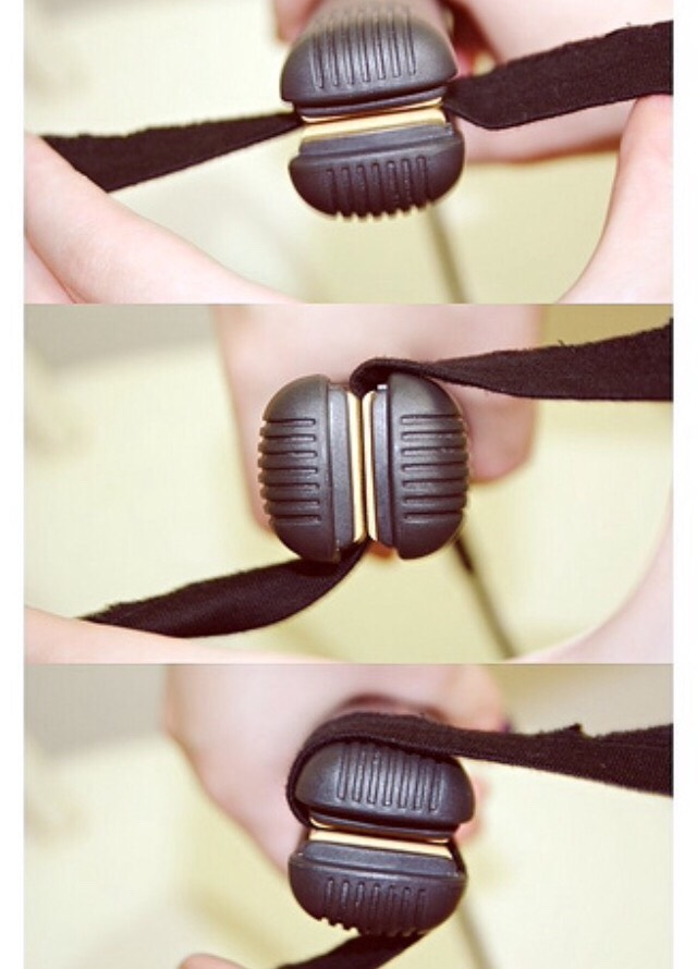 The correct way to curl with a flat iron.