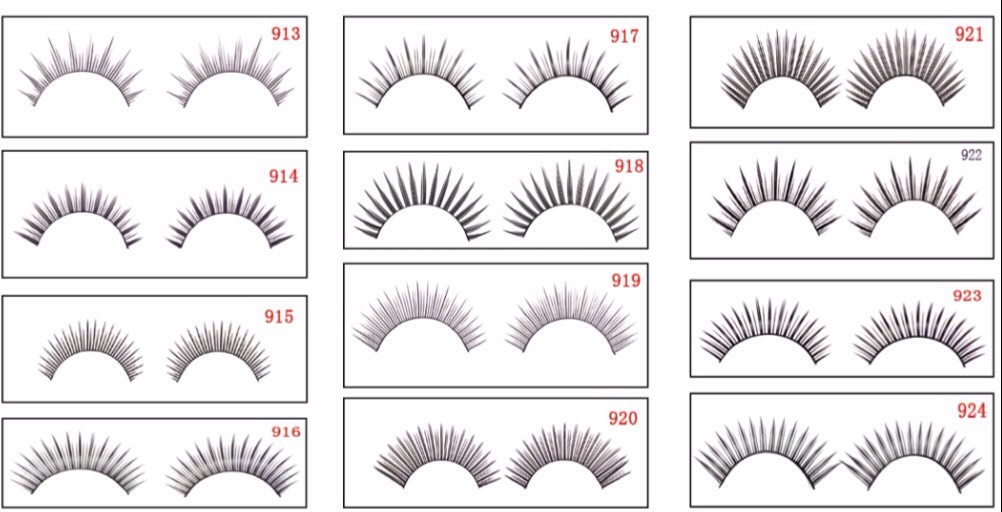First of all you have to pick a style of eyelash that will suit your eye shape. So for example if you have small eyes you need to go with more sultry style but if you have big eyes you can get away with a thinker style and everyone can pull off cats eye depending if you get thick ones or sultry!
