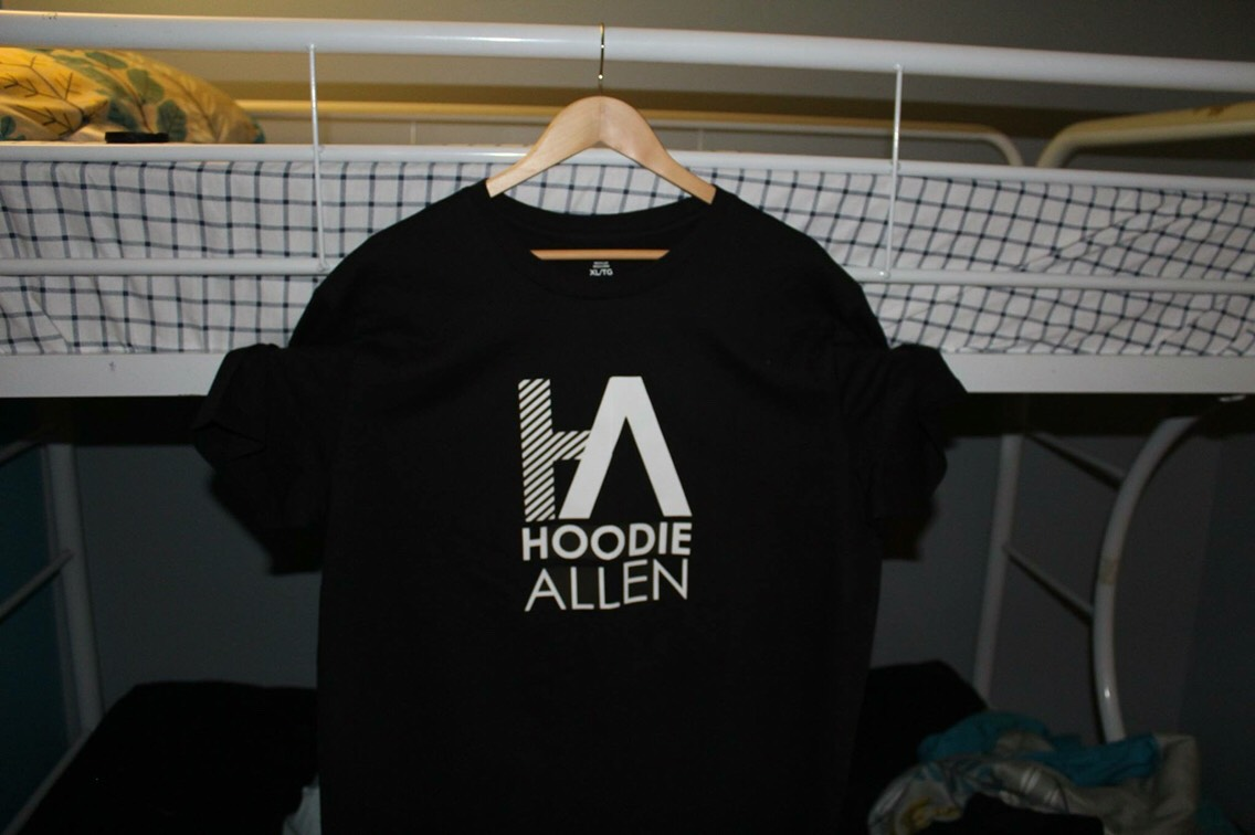 Artist- Hoodie Allen Made with iron on transfers