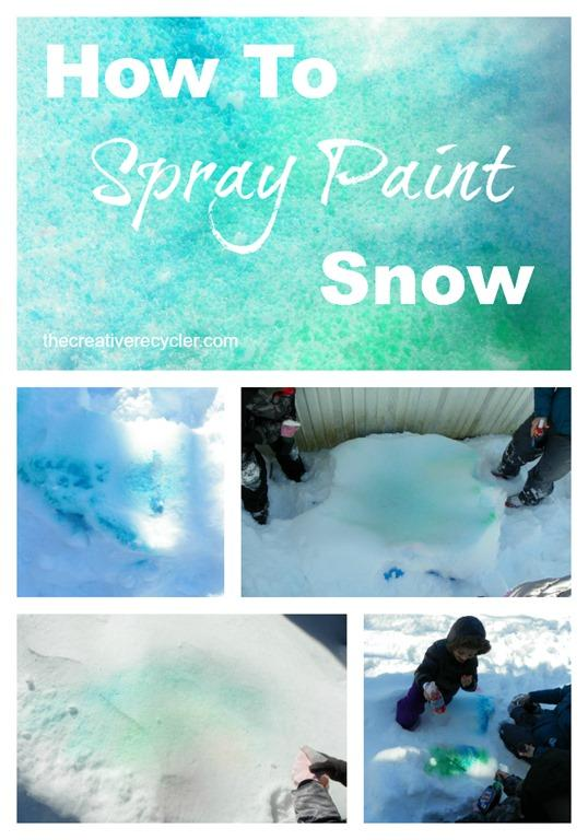 How to spray paint snow with things you have in your house right now.