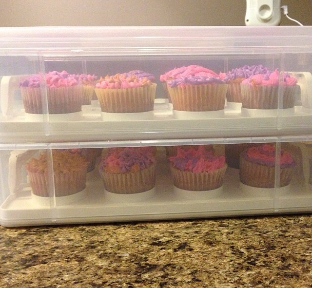 Cup cake carrier. Holds 24. Got it for 16.99. I checked Hobby Lobby and theirs was 29.99.
