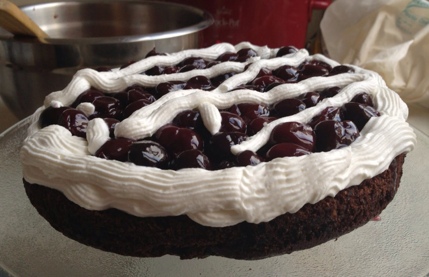 Please please like!!! This is a quick and delicious dessert!! Everyone has begged for recipe and it's such a easy secret!!  You can also create many different toppings! Any size cake will work!
