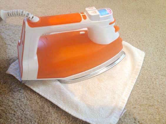 34.Banish carpet stains without excessive scrubbing by using your iron.  A little heat goes a long way.Here'sthe tutorial.