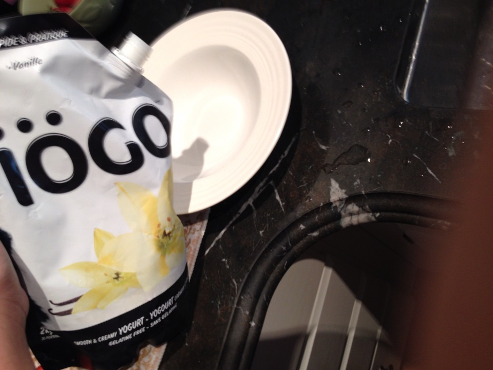 step two: add yogurt into the bowl.