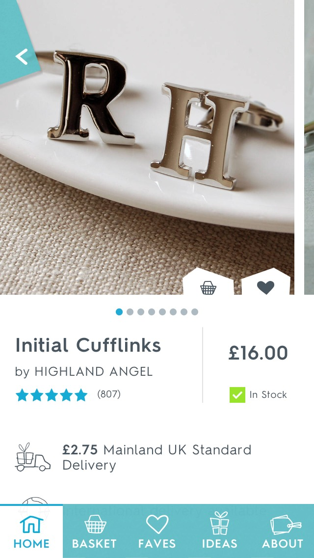 These initial cuff links are really cool and, of course, personalised