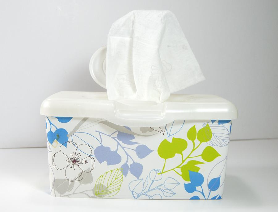 Baby wipes work great as makeup removers, as well as hand and face refreshers.