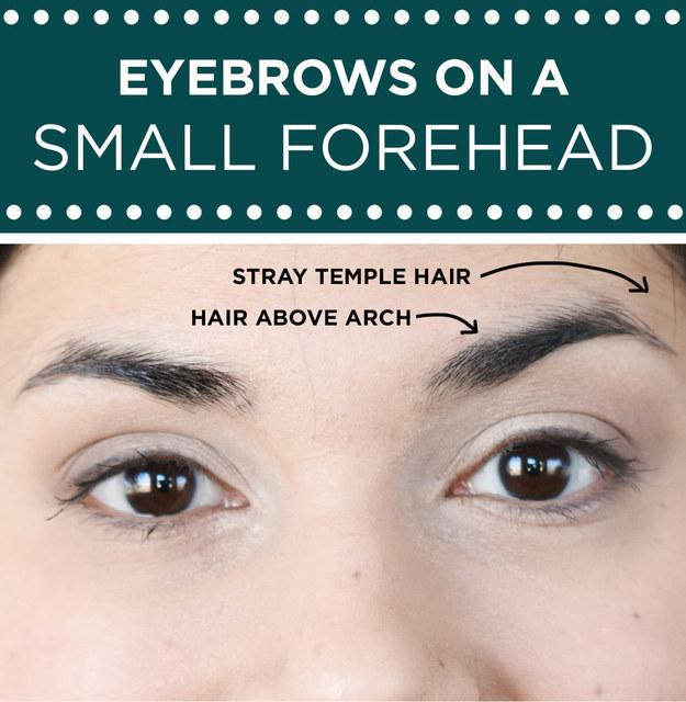 For those with a smaller forehead: Focus on maximizing the space between your eyebrows and your hairline.