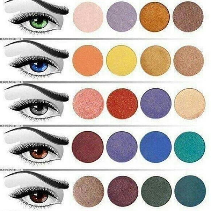 Find the right eyeshadow for your eye color.