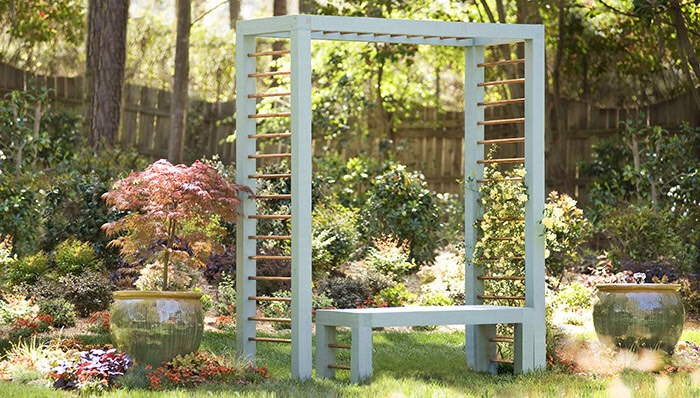 3. Arbor and bench