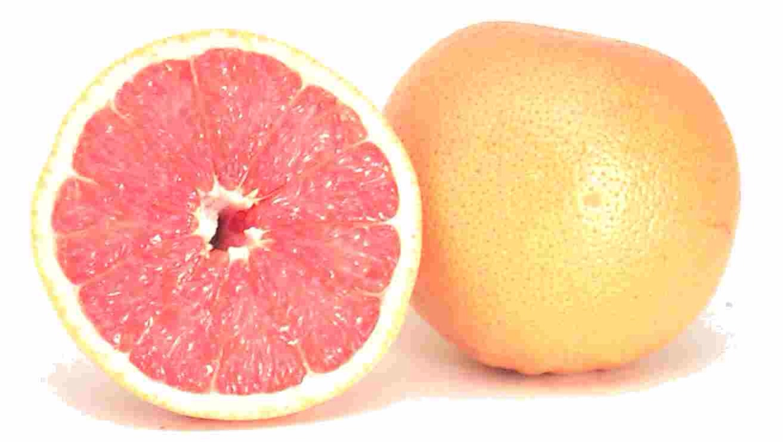 You'll need: 1 pink grapefruit 1 orange 2 tablespoons of lemon juice
