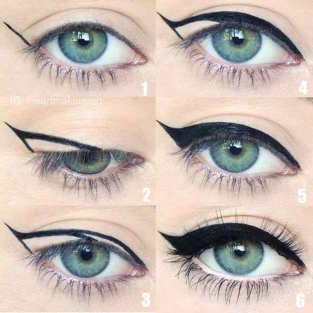 This technique works great with a gel liner and an angled or precision liner brush.