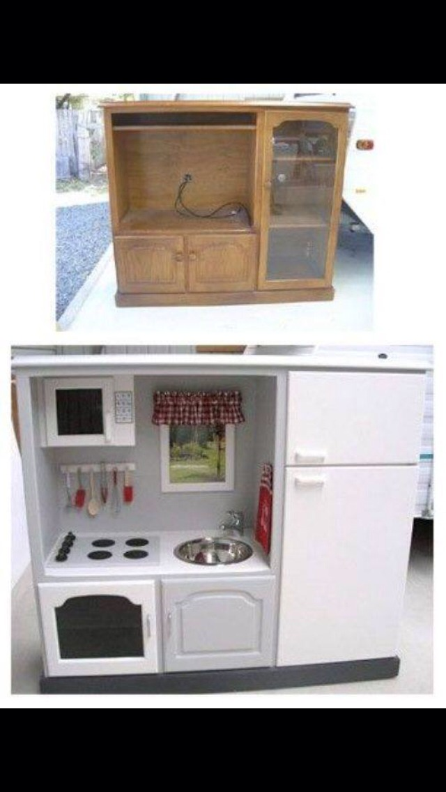 Turned into a play kitchen!
