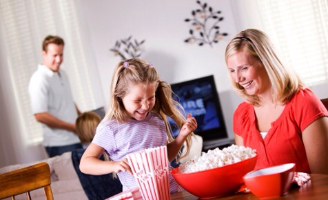 Popcorn: popcorn is the best for a relaxed family movie night