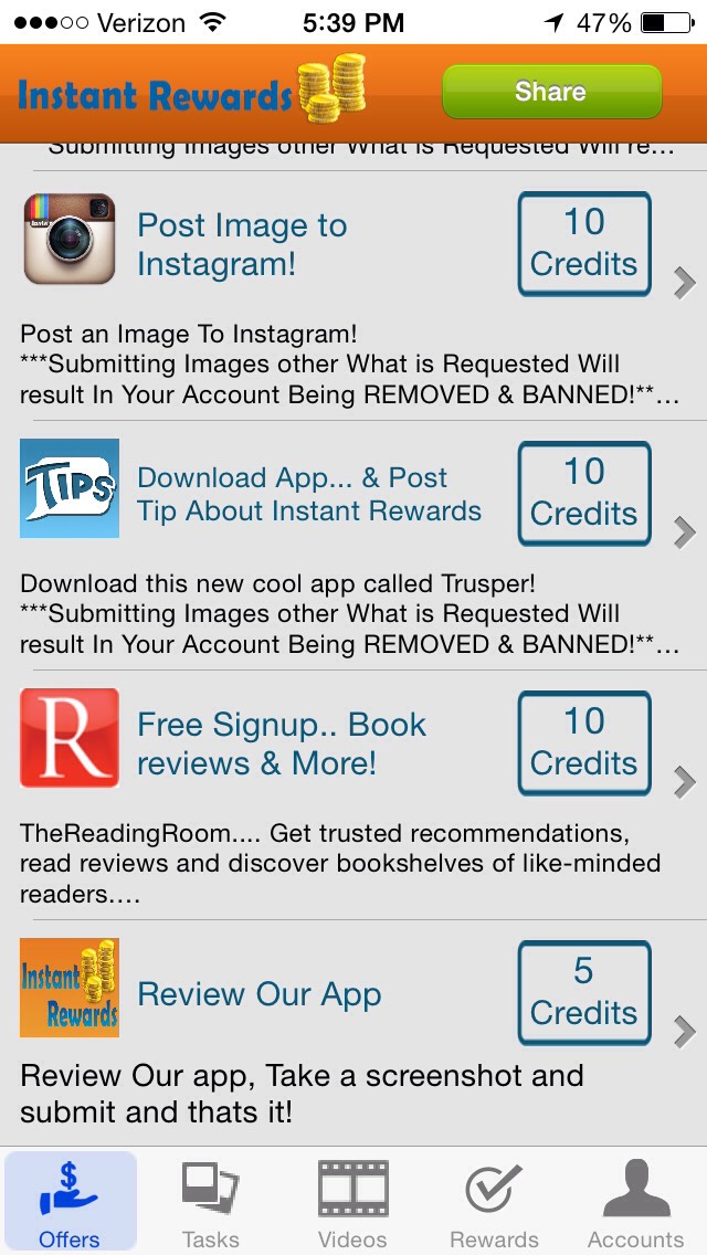 Instant Rewards. Get the app. You will not regret it!