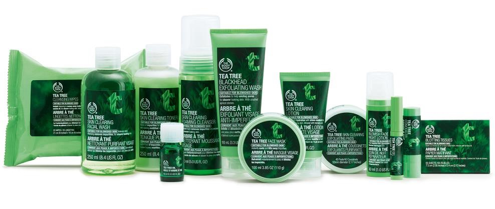 For oily skin. Consider using tea tree oil. Tea tree oil is naturally antibacterial. This will help keep the bacteria causing acne and inflammation away! Plus the ones from The Body Shop are made community fair trade, no animal testing and 100% vegan.