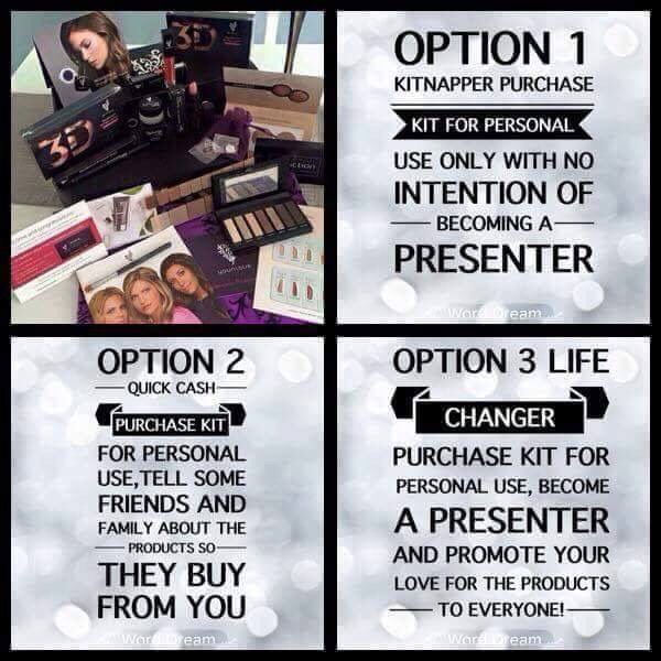 FREE SHIPPING!Do you want to be a part of this amazing company? Or take the kit for yourself ? It's your choice! $119 Canadian +Tax 🙆NO autoships 🙅NO monthly fees ❤NO quota to fill 😀NO stock requirements 😆NO delivering products (our product shipsstraight to the customer) youniqueproducts.com/rae