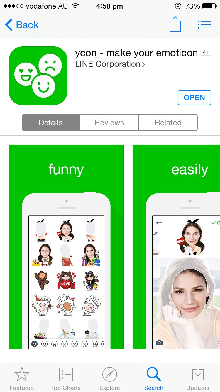 ycon - make your emoticon by LINE Corporation https://appsto.re/au/o7US0.i  No need to explain! It's just fun!!!