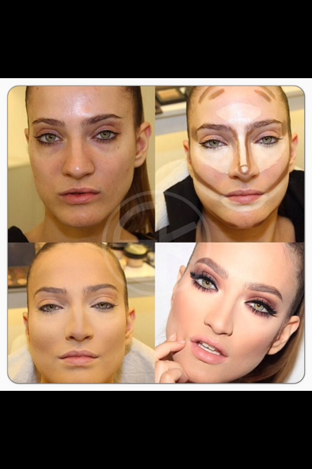 Once your happy with the blending of light and dark contour colours your ready to set it in place...