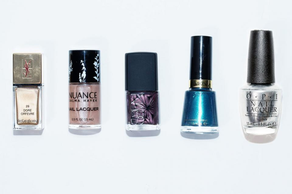 16. Metallic Polish. Metallic polishes like gold, rose gold, purple, mermaid blue, and silver are the new neutrals and can be worn with anything these days.