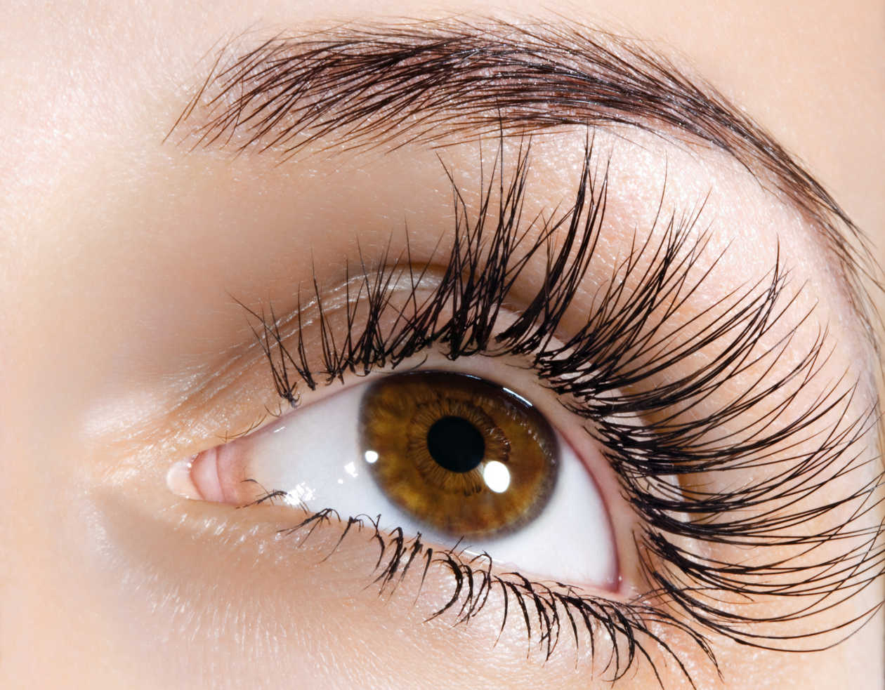 to lengthen eyelashes.  your mascara you take a little Vaseline and put it on your eyelashes every night before bed for a month