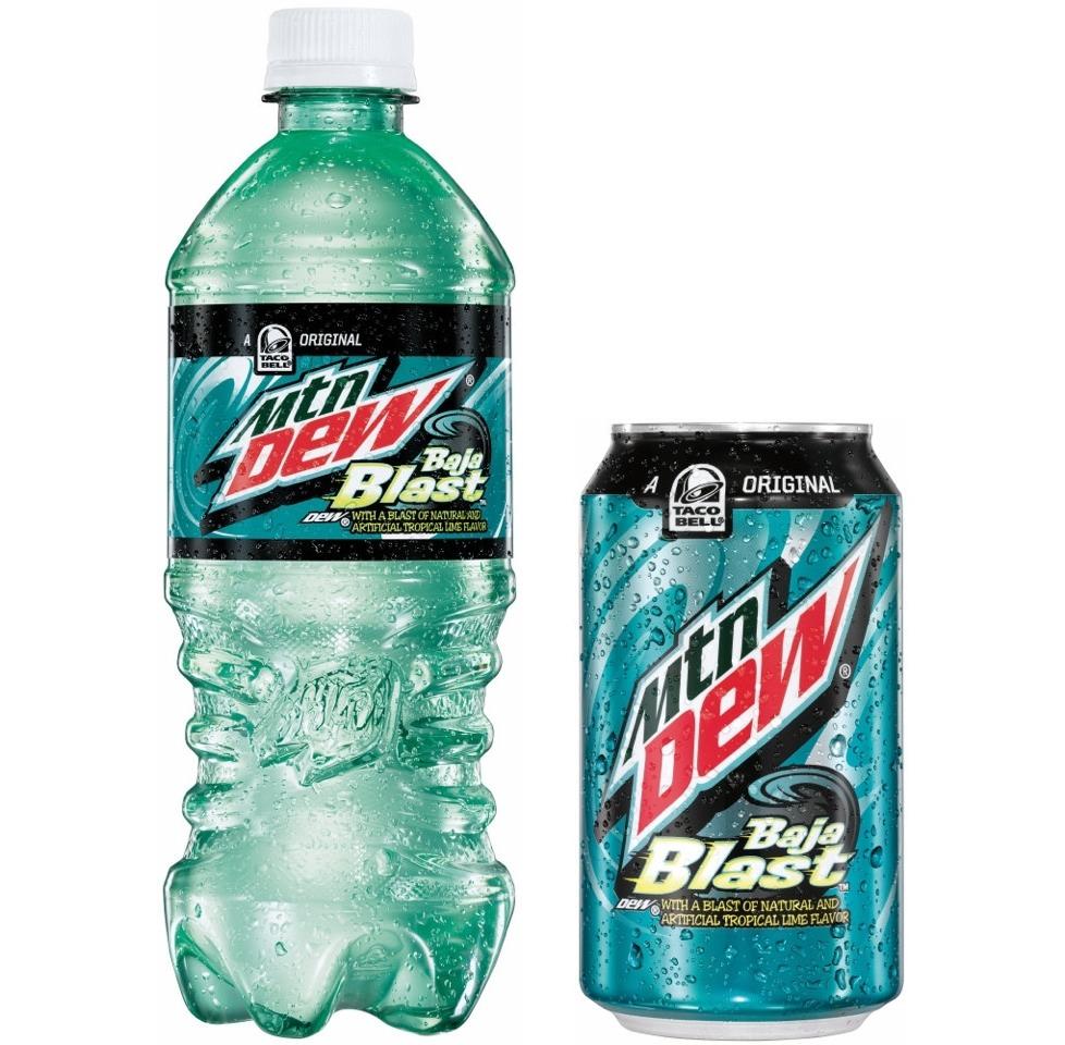 Baja blast is 75% Mountain Dew and 25% blue powerade
