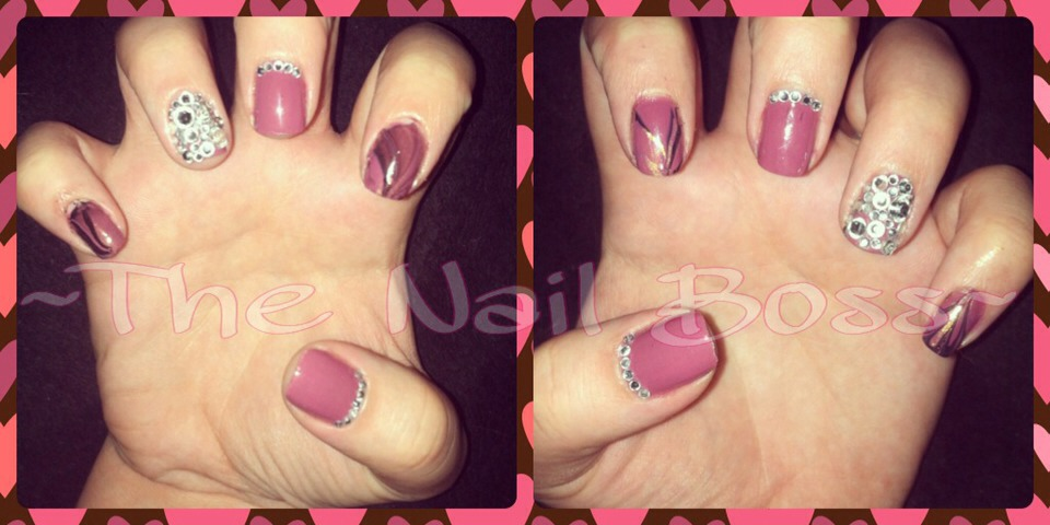 Bling-y nails by me!