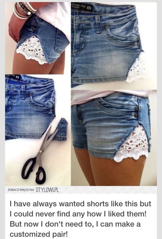 This definitely helps if you have shorts that you've grown out of, just add some fabric to the sides and ta-da! You have cute (and fitting) shorts!!