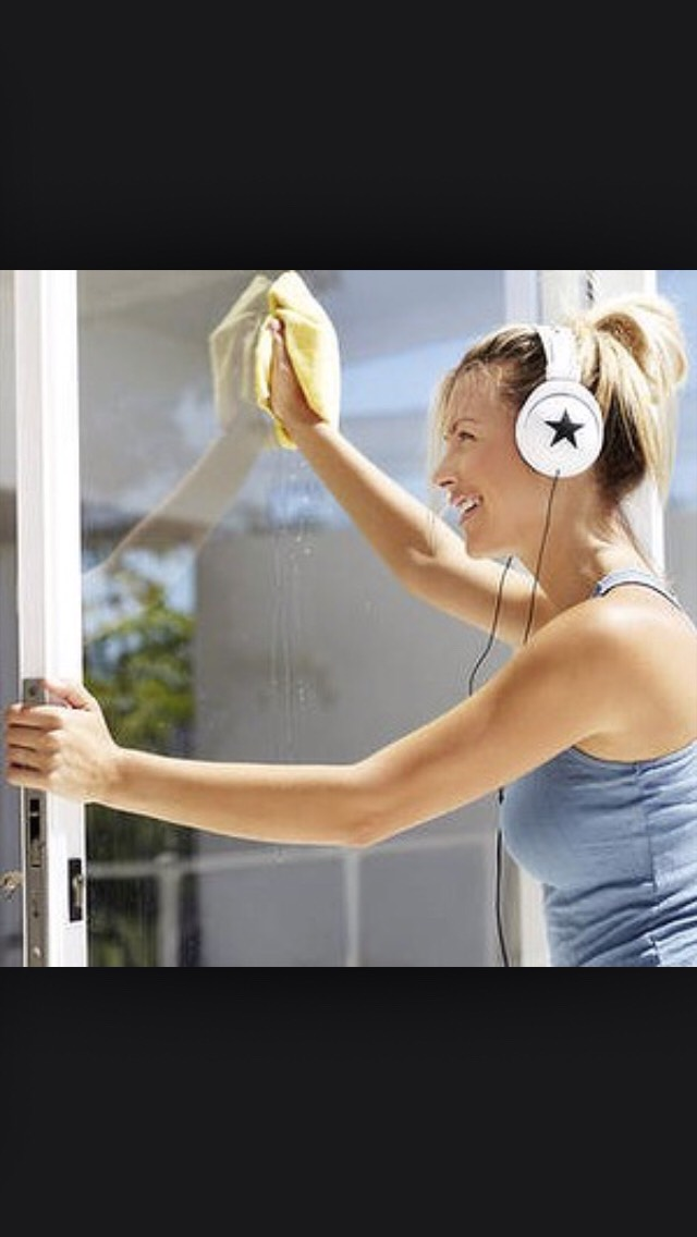 Listening to music while you clean can make it more enjoyable.