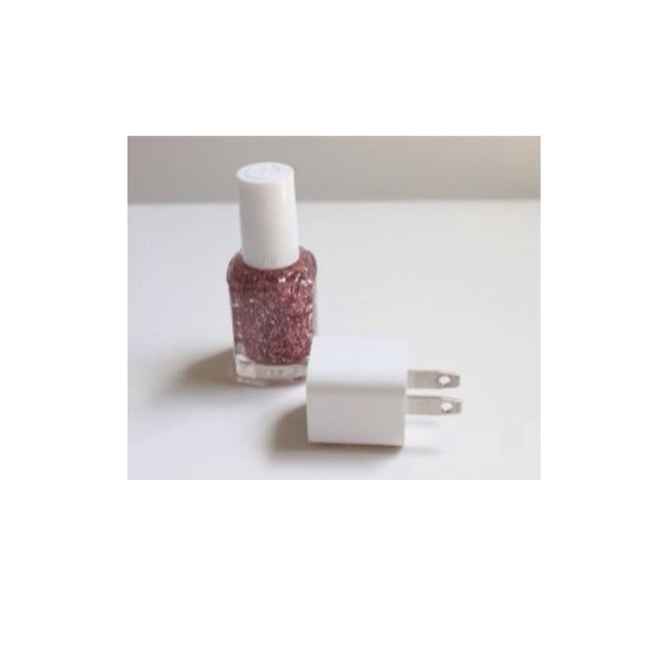 Take your favorite sparkly nail polish or your favorite glitter glue or even just glue and glitter!