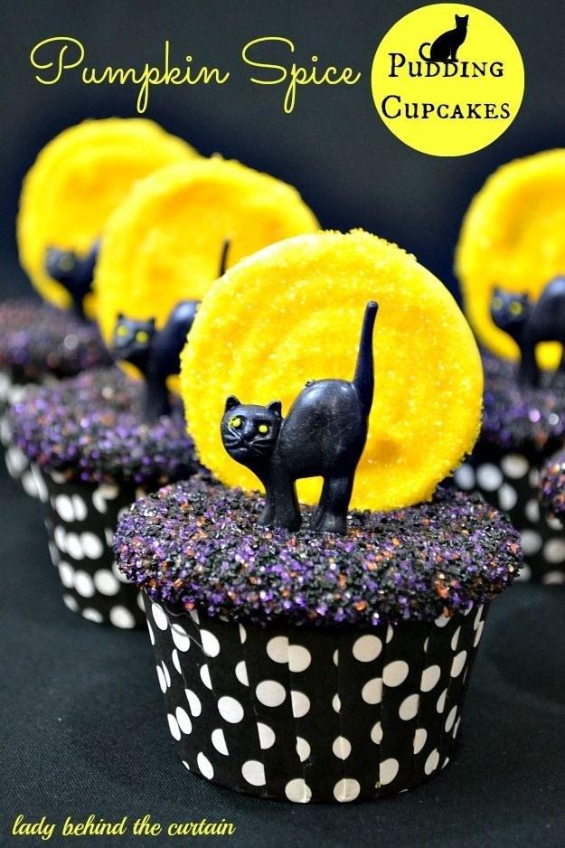Recipe: http://www.ladybehindthecurtain.com/pumpkin-spice-pudding-cupcakes/