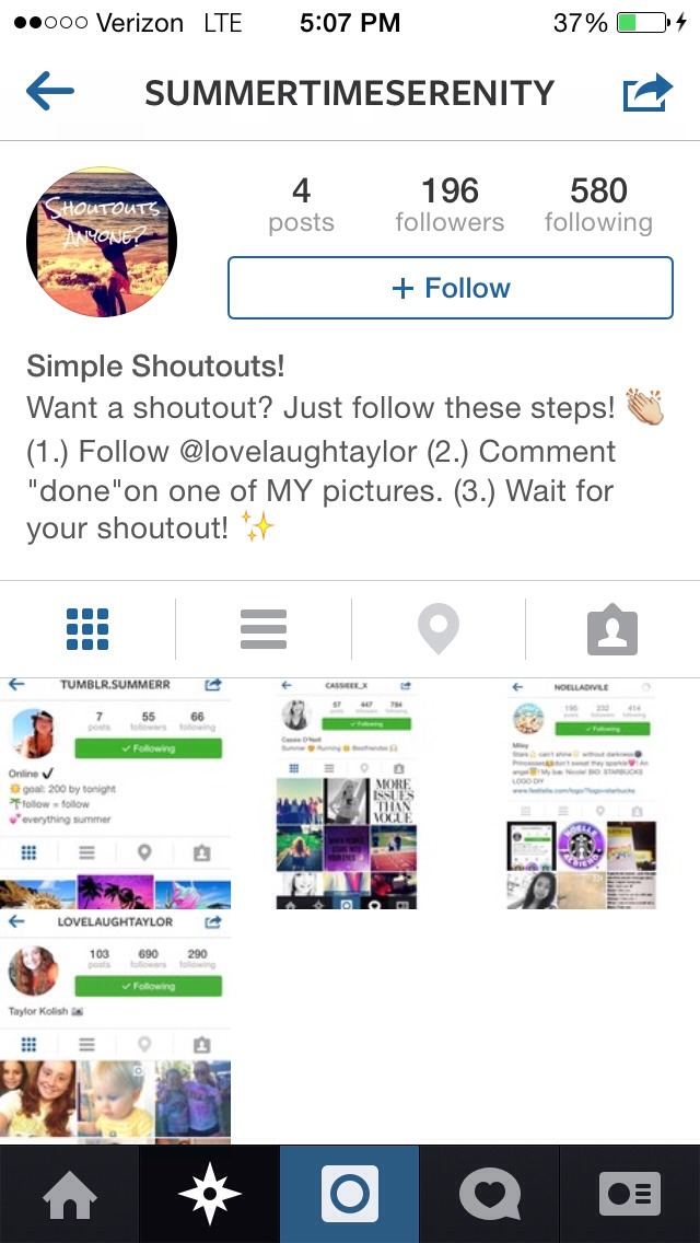 You could also find accounts that will give you shoutouts to help you gain followers!