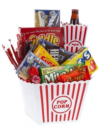 this gift basket is similar to a movie gift basket but for the horror movie