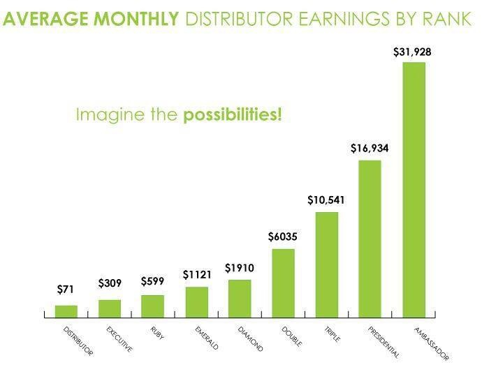Typical earning potential PER MONTH
