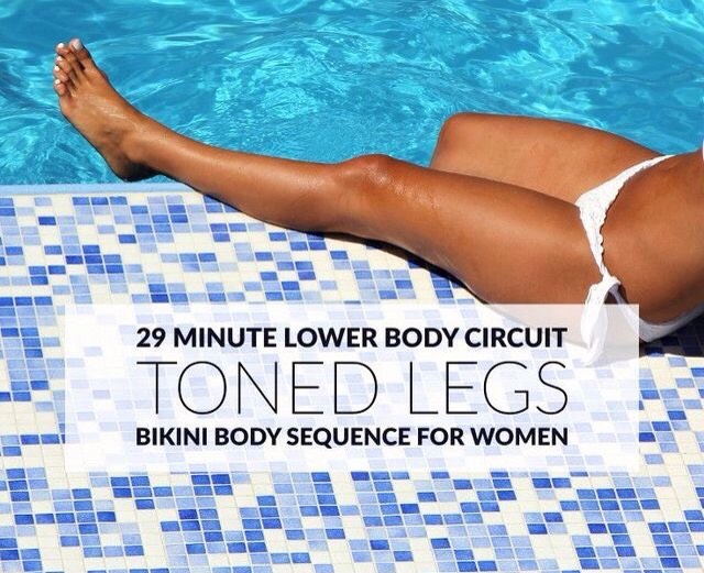Sculpt strong, toned legs and thighs with these 10 exercises that work all muscles in your lower body. This 29-minute leg circuit will help you build calorie-torching lean muscle and maximize your metabolism!