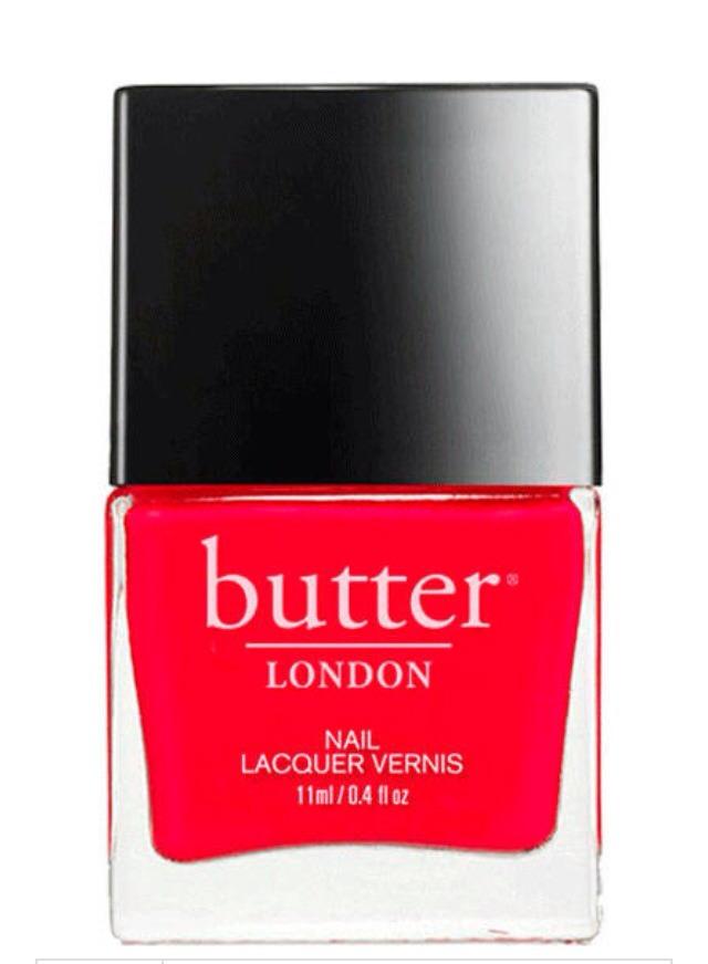 Butter London nail polish in Ladybird, $15, butterlondon.com