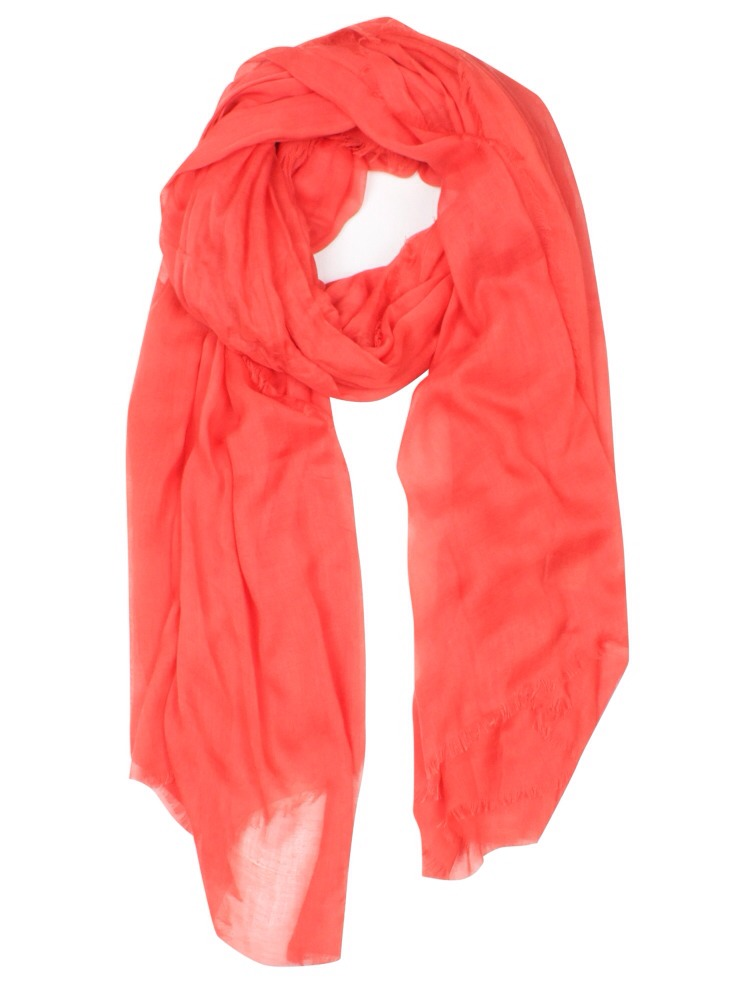 The coral scarf makes the shirt stand out a little more and I think it makes the color complete