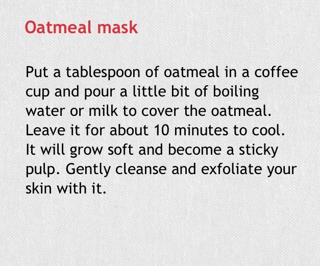 oatmeal mask for exfoliation
