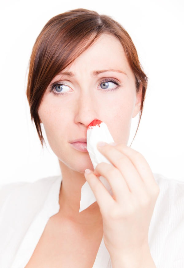 All you need to stop a bloody nose super quickly is a little bit of Vaseline. Just put some Vaseline on the tip of your finger and shove it up the nostril(s) your bleeding from and rub it around the inside. It should stop the bleeding almost instantly.