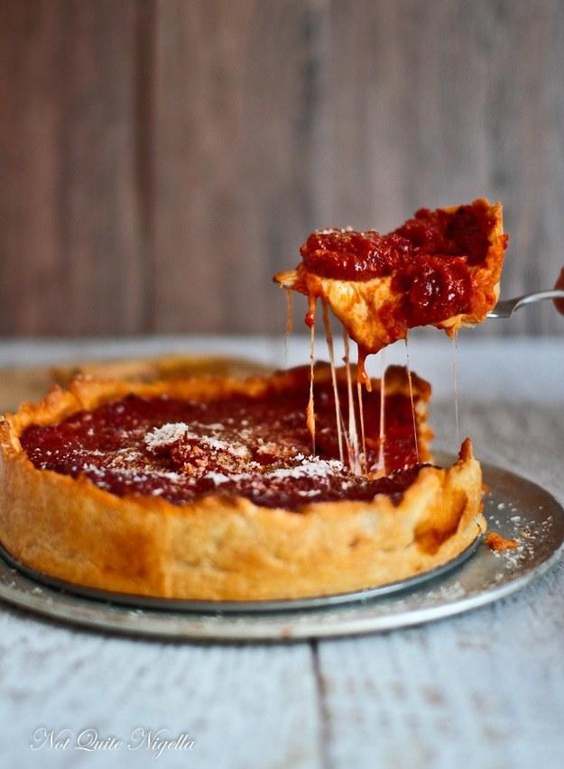 14. Chicago Deep Dish Pizza