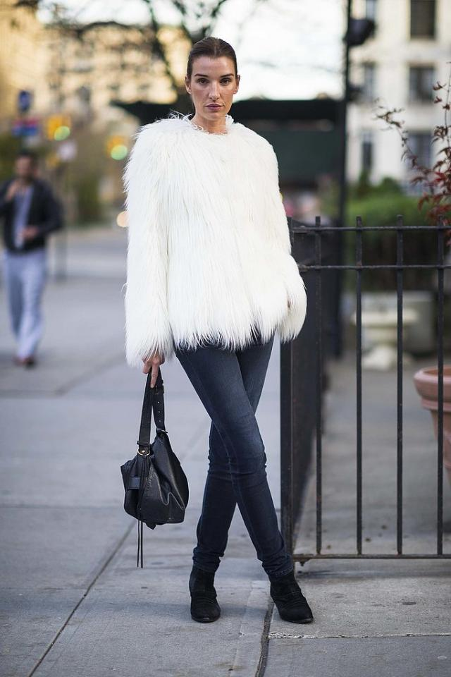 Play With Texture  Whether it's a fuzzy coat, a fringed sweater, or a pair of calf-hair booties, playing with texture might just be the most interesting thing you do to your outfit.