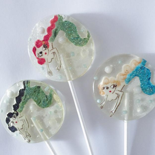 And some lollipops that are almost too lovely to eat.
